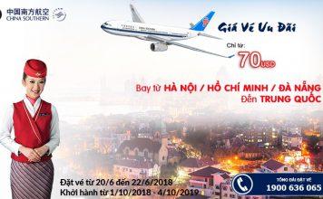 Săn vé China Southern Airlines khuyến mại