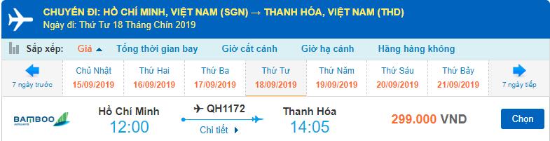 Vé máy bay đi Thanh Hóa Bamboo Airways