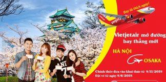 Đường bay mới Hà Nội - Osaka (Viejet Air)