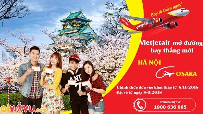 Vietjet Air chính thức khai thác đường bay mới Hà Nội - Osaka
