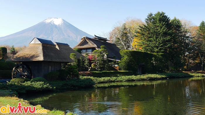 Làng cổ Oshino Hakkai dưới chân núi Phú sĩ