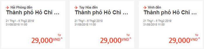 Giá vé máy bay chỉ từ 29.000 VNĐ
