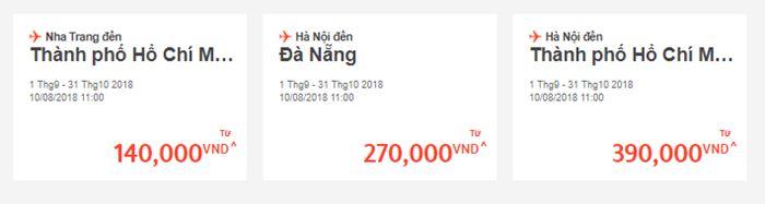 Giá vé một chiều chỉ từ 140.000ĐGiá vé một chiều chỉ từ 140.000Đ