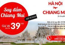 Hà Nội đến Chiang Mai chỉ từ 39 USD