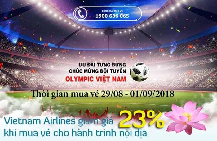 Airlines giảm 23%giá vé mừng U23 Việt Nam