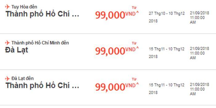 Siêu giảm giá từ Jetstar Pacific vé máy bay chỉ 99.000 VNĐ