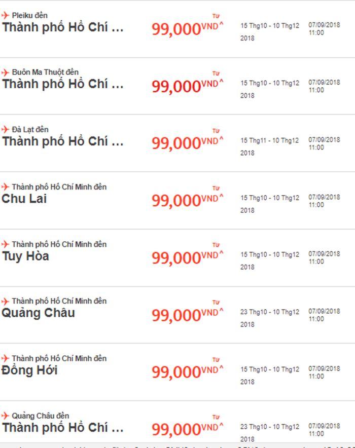 Siêu giảm giá cùng Jetstar Pacific vé máy bay chỉ từ 99.000 VNĐ