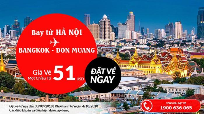Giá vé máy bay một chiều chỉ từ 51 USD