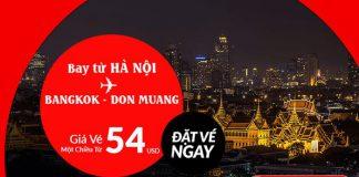 Hà Nội đến Bang kok chỉ từ 54 USD