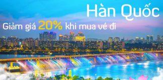 Giảm 20% vé máy bay một chiều đi Hàn Quốc