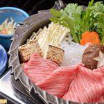 Sukiyaki với thành phần chính là thịt bò Rib eye