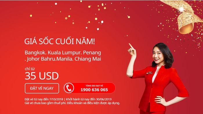 Air Asia giá vé máy bay chỉ từ 35 USD