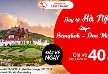 Bay thẳng từ Hà Nội đến Bangkok cùng Air Asia chỉ 40 USD