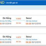 chi tiết giá vé máy bay từ Đà Nẵng đi Hàn Quốc