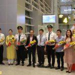 Tổ chức chào đón những hành khách đầu tiên trên chuyến bay Đà Nẵng Osaka