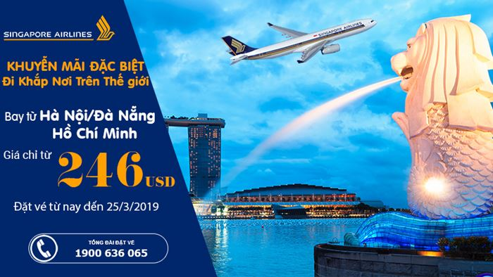 Du lịch cùng Singapore Airlines chỉ từ 246 USD