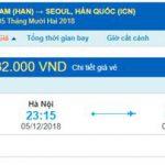 Giá vé máy bay từ Hà Nội đi Hàn Quốc
