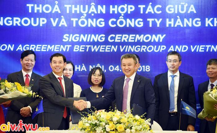 Vietnam Airlines và Vingroup ký kết hợp tác
