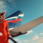Tiếp viên của Aeroflot tại tàu bay