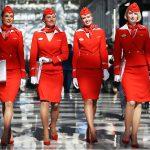 Tiếp viên của Aeroflot tại sân bay