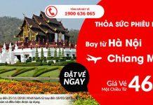 Từ Hà Nội đến Chiang Mai chỉ 46 USD