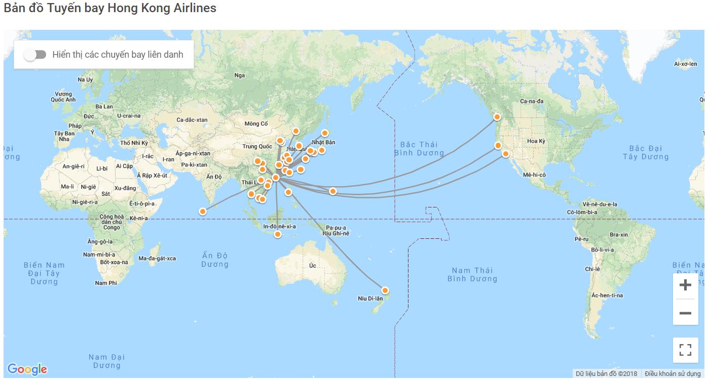 Đường bay của Hongkong Airlines