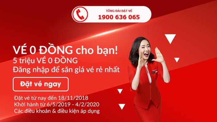Air Asia dành tặng 5 triệu vé 0 đồng đến hành khách