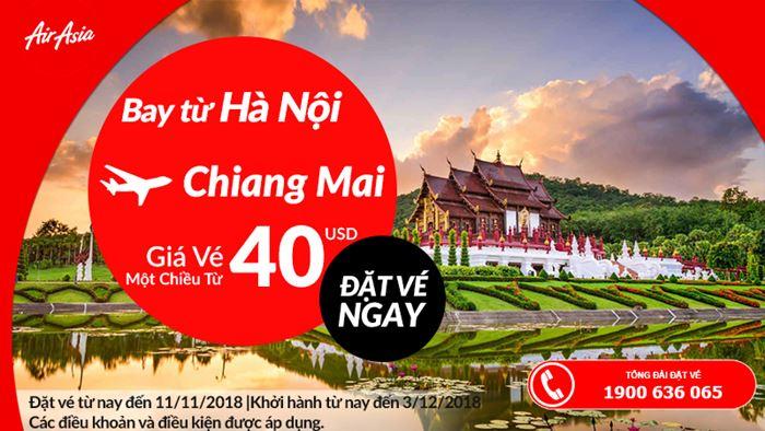 Vé máy bay một chiều chỉ 40 USD du lịch cùng Air Asia