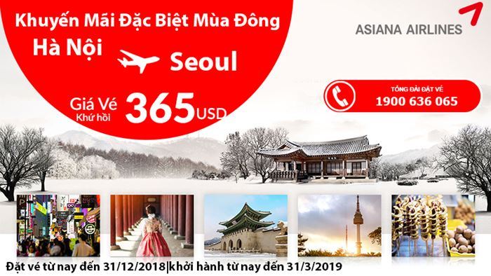Khám phá mùa đông tại Seoul chỉ với 365 USD