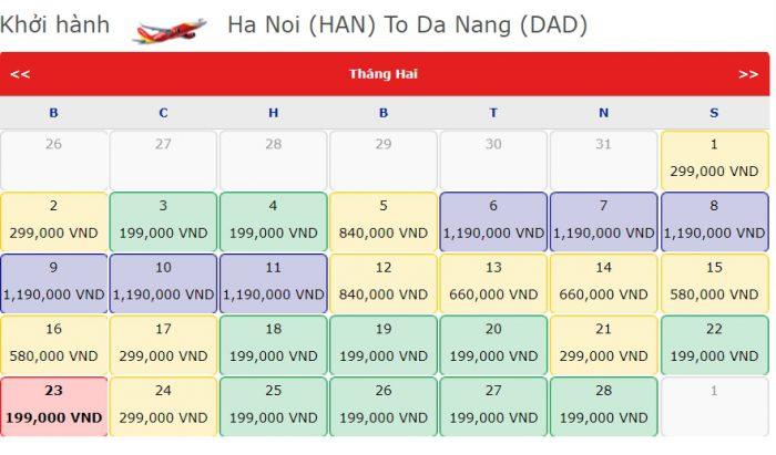 Giá Vé 0 đồng hành trình từ Hà Nội đi Đà Nẵng