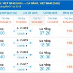 Giá vé máy bay Hà Nội đi Đà Nẵng tháng 12