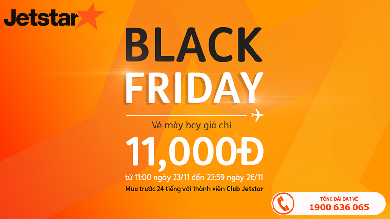Bay cùng Jetstar Pacific chỉ 11.000 VNĐ trong ngày Black Friday