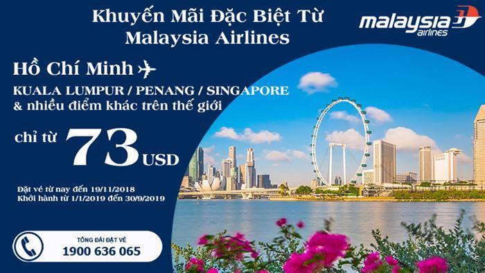 Giá vé máy bay khứ hồi chỉ 73 USD