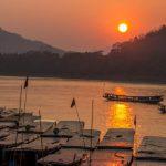 Hoàng hôn trên sông Mekong