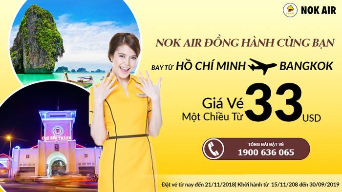 Cùng Nok Air đến BangKok chỉ từ 33 USD