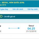 Giá vé máy bay Nha Trang đi Seoul