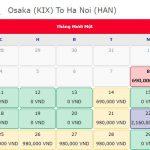 Giá vé máy bay 0 đồng từ Osaka đi Hà Nội
