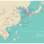 Đường bay của T'way Air