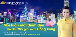 Vé máy bay đến Hong Kong giảm 20%