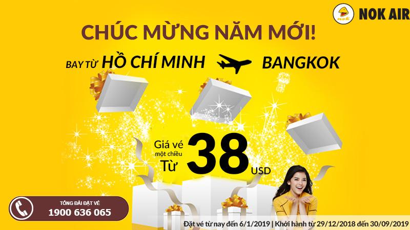 Chỉ 38 USD khai xuân tận hưởng niềm vui cùng Nok Air