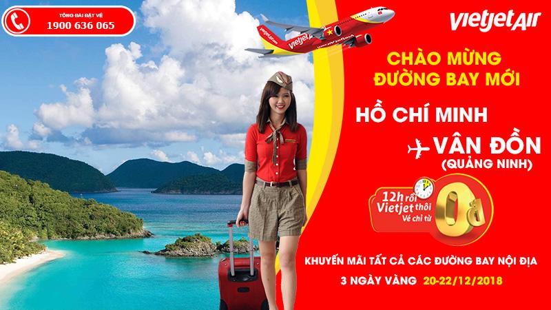 Thêm niềm vui kết nối Hồ Chí Minh - Vân Đồn với 2,2 triệu vé 0 đồng