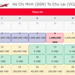 Giá vé máy bay 0 đồng hành trình từ Hồ Chí Minh đi Chu Lai