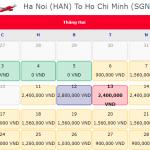 Giá vé má bay khuyến mãi 0 đồng từ Hà Nội đi Hồ Chí Minh