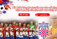 Air Asia tăng 20 chuyến bay đưa cổ động viên Việt Nam cổ vũ chung kết AFF Cup