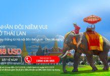 Bay thẳng từ Hà Nội đi BangKok chỉ từ 48 USD