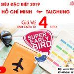 Siêu khuyến mãi 2019 chỉ 4 USD từ Hồ Chí Minh đi Taichung