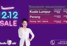 Malindo Air Sale 12/12 vé máy bay chỉ từ 39 USD
