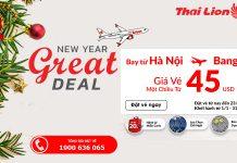 Du lịch đầu năm mới cùng Thai Lion Air chỉ với 45 USD