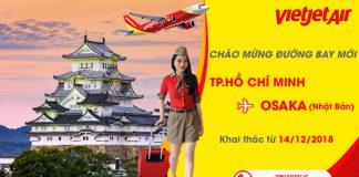Đường bay mới từ Hồ Chí Minh đi Osaka