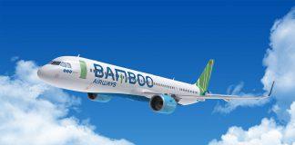 Máy bay Airbus A320 của hãng hàng không Bamboo Airways